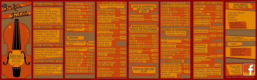 main menu spread