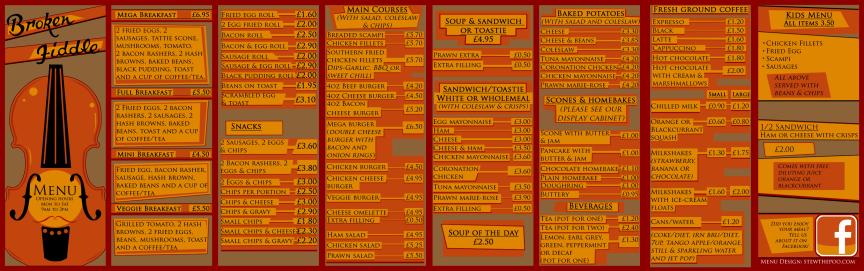 main menu spread
